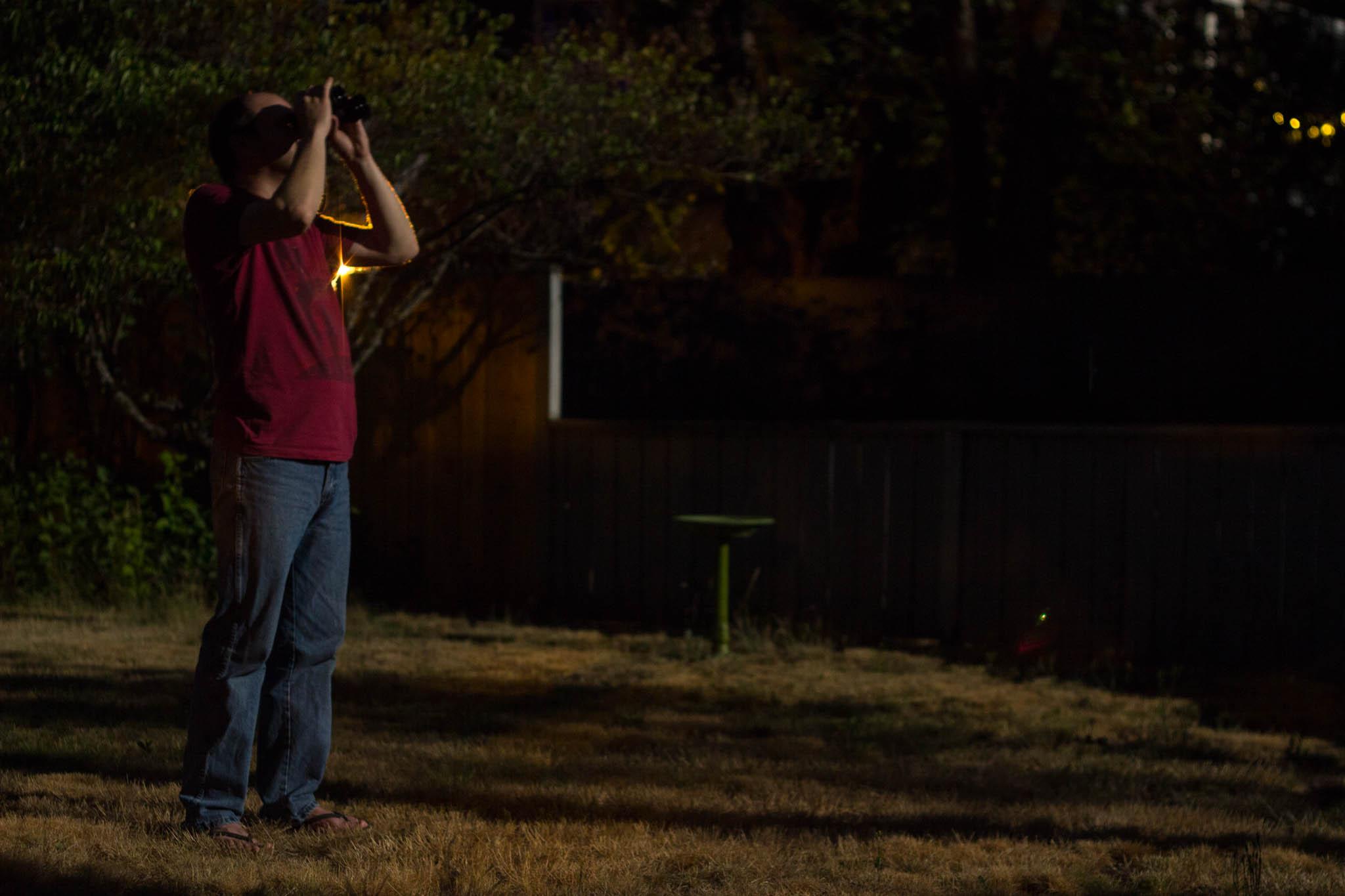 Eli looking at the moon